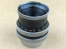 Kern-Paillard 25mm f/1.5 Switar AR C-Mount Lens - Works Great