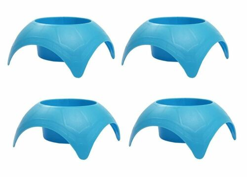 4 Pack Outdoor Beach Vacation Turtleback Sand Coaster Drink Cup Holder Blue