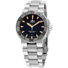 Oris Aquis Grey Dial Stainless Steel Men's Watch 73376534158MB