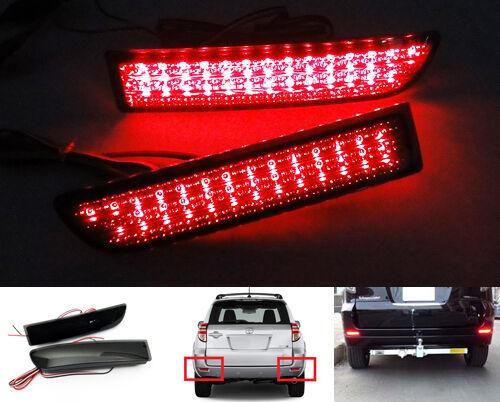 2x for TOYOTA RAV4 Black Smoked Lens LED Bumper Reflector Tail Brake Stop Light