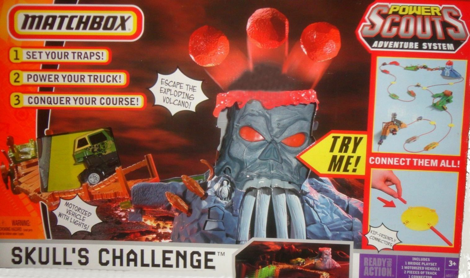 Matchbox Skull's Challenge Power Scouts Adventure System Set Lightup eyes New