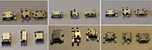 LOTTO N. 20 CONNETTORI 5 PIN RICARICA PORTA jack Micro USB CARICA ASSORTITI