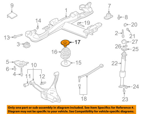 GM OEM Rear Suspension-Spring Insulator 25703339