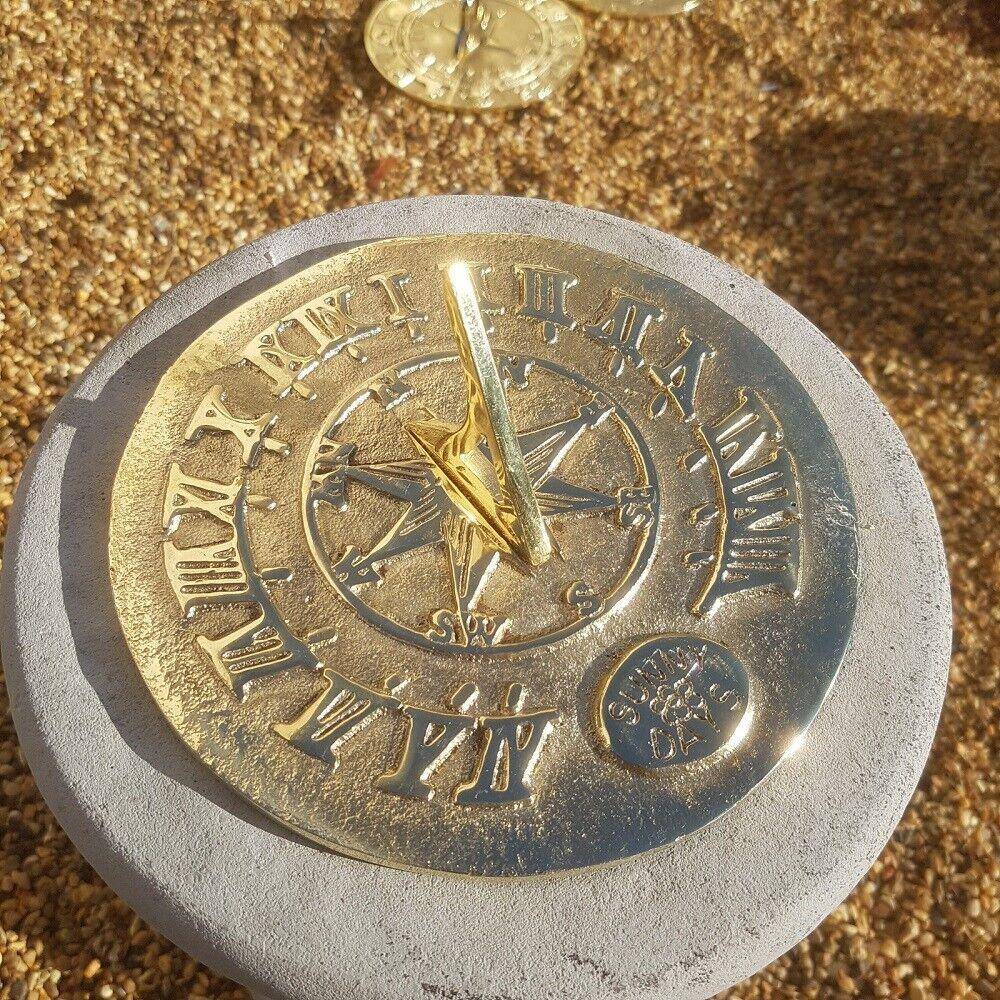 Sunny Days Round Brass Sundial