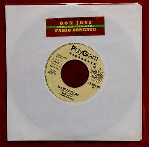 BON-JOVI-Blaze-of-Glory-7-034-promo-JUKE-BOX-original-RARO-Concato-GIGI-vinyl-wol