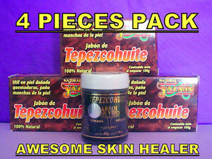 TEPEZCOHUITE-TREE-4-PACK-SOAP-amp-CREAM-POMADE-ACNE-PIMPLES-SCARS-PSORIASIS-ECZEMA