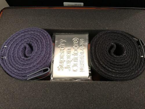 Superdry Knox Belt Double Pack Black//Navy BNWT