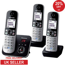 Panasonic KX-TG6823EB Trio DECT Cordless Phone, Speakerphone & Answerphone