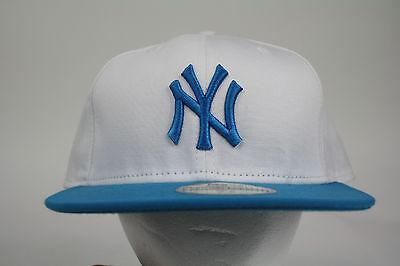 New Era New York Yankee White-Aqua Blue 59FIFTY Cap Fitted ALL SIZES