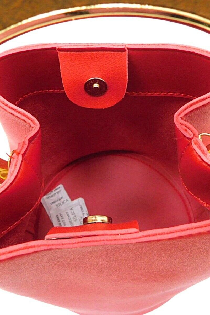 Peach accessories red small barrel bag - One Size