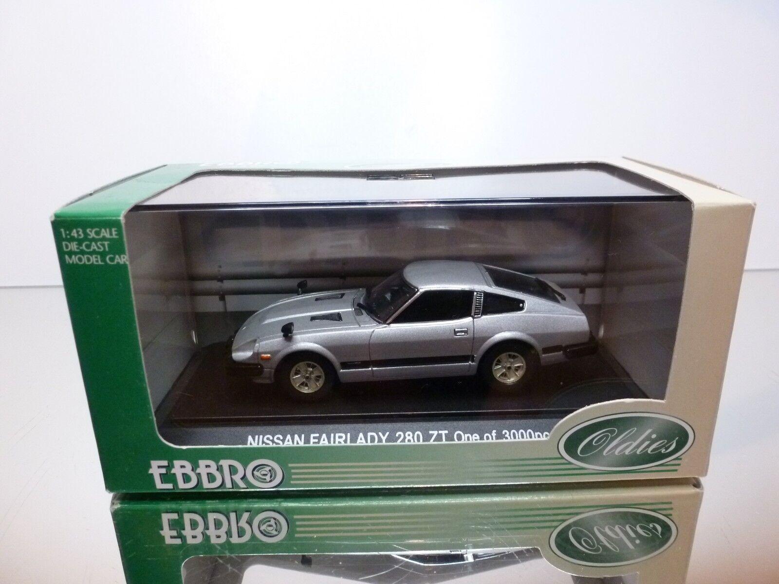 EBBRO 302 NISSAN FAIRLADY 280 ZT - - - plata 1 43 - EXCELLENT IN BOX ca7ad5