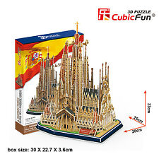 CubicFun 3D Puzzle Sagrada Familia Holy Family Cathedral Spain MC153h 194 pieces