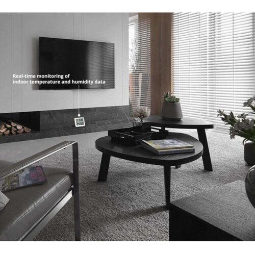 "3,2 /""LCD Digital Feuchtemessgerät Uhr Home Thermometer Hygrometer"