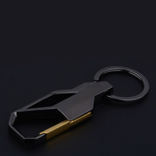 New Black Alloy Metal Keyfob Gift Car Keyring Keychain Key Chain Ring Accessory