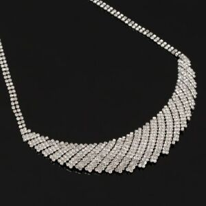 Silver Crystal Sparkle Necklace Very Simple Chic And Stylish