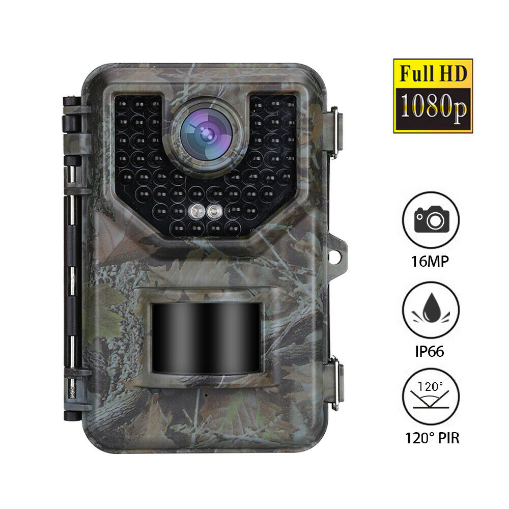 E2 16MP HD 1080P Hunting Trail Kamera Night Vision 0.5S Trigger Game Kamera IP66