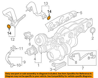 BMW OEM 14-16 328i GT xDrive Turbocharger Turbo-Water Pipe O-ring 11537634204