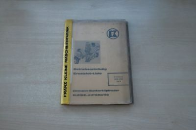 193054) Franz Kleine Köpfroder Handbuch Ersatzteilliste 1972