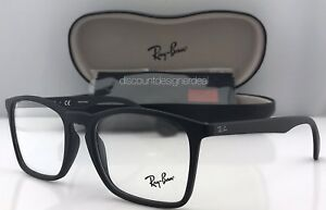 7468470583 Rayban Square Eyeglass Frames Matte Black RB7045 5364 55mm Authentic ...