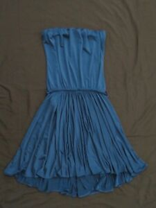 Competent New Women's Dresses And Other Drugs Blue Tube Top Dress Empire Waist Size Medium