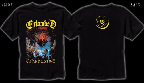 Entombed T/_shirt SIZES:S to 6XL Clandestine Swedish death metal band