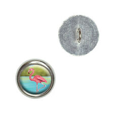 Flamingo - Metal Craft Sewing Novelty Buttons Set of 4