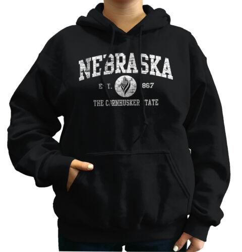 Nebraska  Vintage State Graphic Retro Hometown  Hoodie Sweatshirt