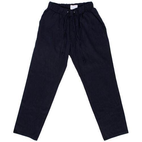 Men/'s fashion Elasticized Waistband Linen Slim Pants 027 GENTLER SHOP
