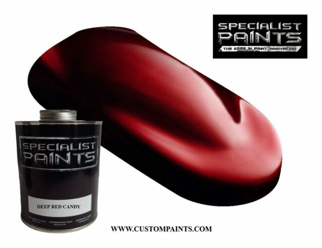 DEEP RED CANDY 500ml KIT - Custom Pearl Paint, Hot Rod, Airbrush, Scooter Paint