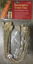 Silver Haute Decor Decorative Twist Ties 16 inch 6 pack
