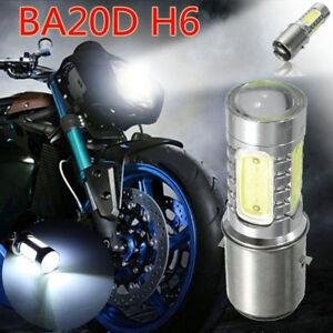 12V H6 BA20D 100W LED White Bulb Light For Motorcycle Bike Moped ATV Headlight