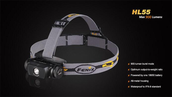 Fenix HL55 900 Lumen Cree XM-L2 U2 Stirnlampe Kopflampe NEU