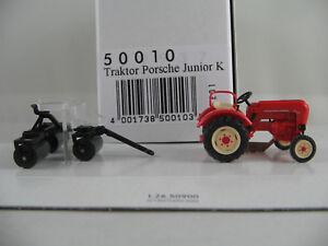 Busch-50010-TRATTORE-PORSCHE-JUNIOR-C-1957-con-Arieggiatore-1-87-h0-Nuovo-Scatola-Originale