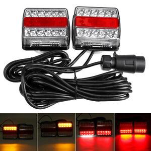 Paire-Cable-10m-LED-Feux-Arriere-Freinage-Fonction-Magnetique-Camion-Remorque