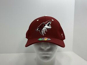 Arizona-Coyotes-NHL-Original-Zephyr-Hockey-7-5-8-Fitted-Cap-Maroon-NEW