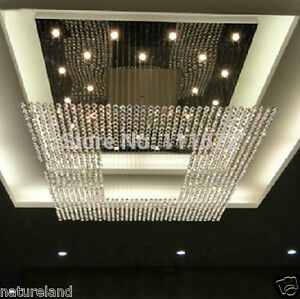 Image Is Loading Crystal Chandelier Light Stair  Ceiling Curtain Pendant Fixture