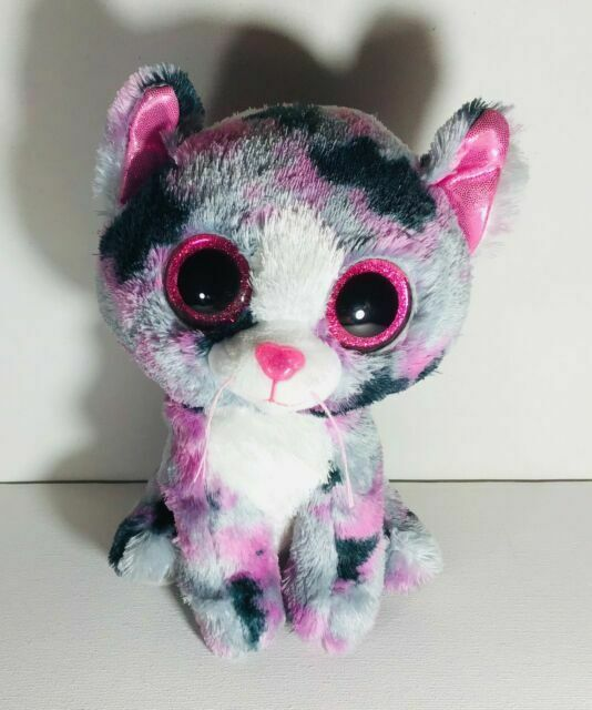 """TY Beanie Babies Boo/'s Lindi Cat 6/"""" Stuffed Collectible Plush Toy Pink NEW"""
