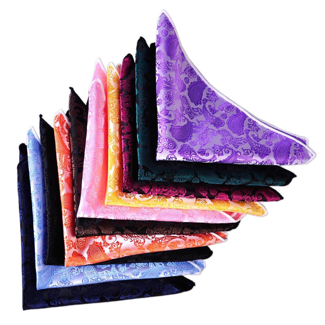 10 stk Herren Klassisch Krawatte Seide Paisley Mit Taschentuch Einstecktuch Set