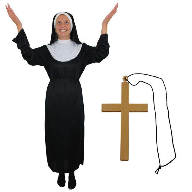ADULT/'S PLUS SIZE NUN CHURCH RELIGIOUS FUNNY COSTUME WOMEN/'S FANCY DRESS