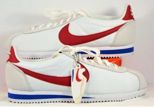 wholesale dealer 94918 5e448 Nike Classic Cortez AW QS Forrest Gump White & Red Royal Sz 10.5 NEW 847709  164