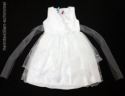 Battesimo Vestito Da Sposa Abito Baby Bambini Vestito Fiori Ragazza Battesimo Matrimonio Bianco-mostra Il Titolo Originale