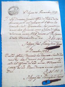 1823-DOCUMENTO-SU-CARTA-BOLLATA-DI-BUDRIO-DI-BOLOGNA