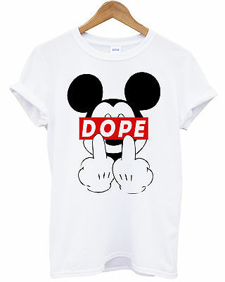 MICKEY DOPE FINGER MOUSE T-SHIRT TRILL ODD DIS OBEY FUTURE T SHIRT TEE HANDS