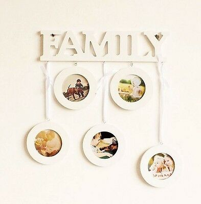 White Family Home Photo Frame Picture Frame Home Decor Five 3''