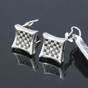 Details About Nyjewel Jpm 14k Gold Brand New 2 5ct Black White Diamond Earrings