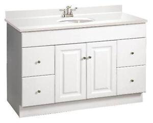 "Bathroom Vanity Cabinet Only design house wyndham 48"" white rta bathroom vanity 4 drawer"