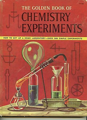 The Golden Book of Chemistry 1960 Golden Press hardcover RARE Vintage BANNED