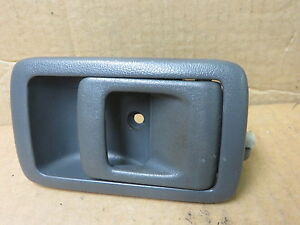 Gray Inside Front//Rear Left LH Door Handle For 95-97 Toyota Tercel 2-Door Sedan