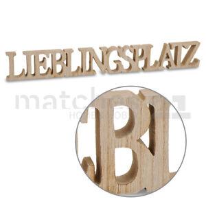 3D Holz Schriftzug Lieblingsplatz Deko Buchstaben zum Stellen ...