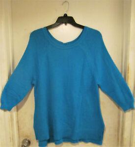 Size Waffle Blue Lane Nwt Bryant Donna 16 Sweater Plus Knit Aqua 14 wE8f7rfqt